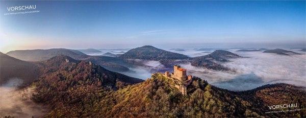 """Wandbild »Burg Trifels über Annweiler« – Limitierte Erstausgabe der Reihe """"die Pfalz von oben"""""""