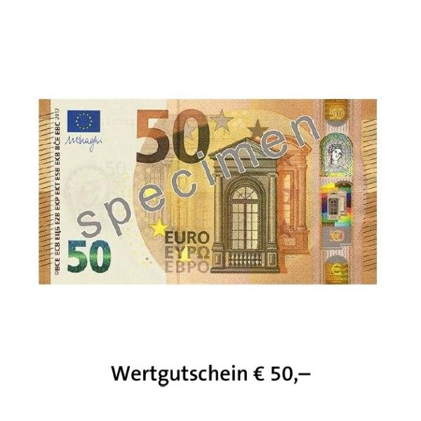 Wertgutschein € 50,–-