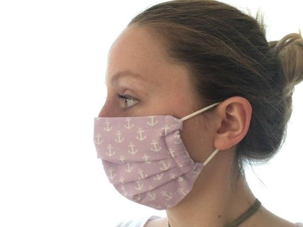 Mund-Nasen-Maske »Ankermuster«