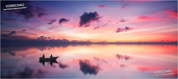 Wandbild »Sonnenuntergang am See«